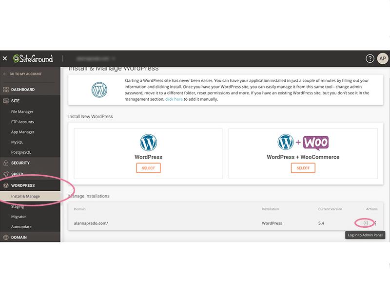 Aprenda como acessar o painel do seu blog WordPress usando a hospedagem da Siteground nesse post!