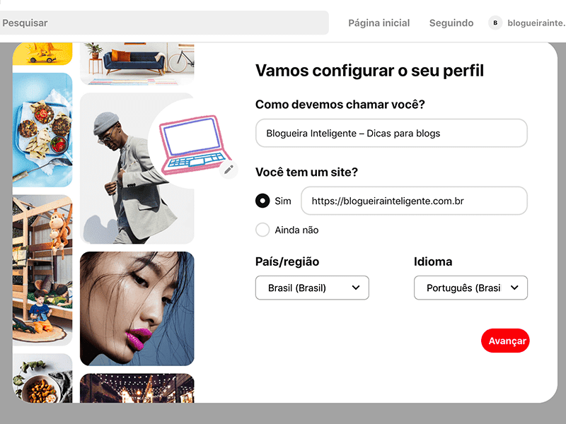 Dicas para se cadastrar no Pinterest e utilizar a plataforma para divulgar seu blog!