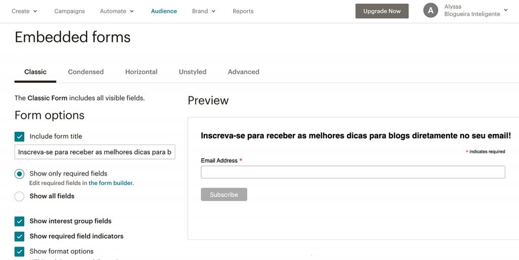 Aprenda como criar um formulário no MailChimp para conseguir mais inscritos na sua lista de emails!