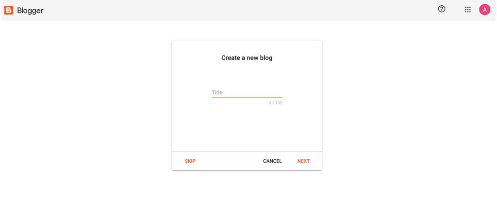 Como criar um blog no Blogger – Escolha o nome do blog