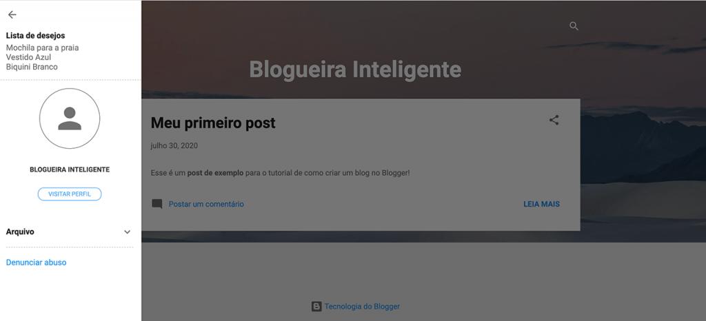 Como criar um blog no Blogger – colocando novos Gadgets