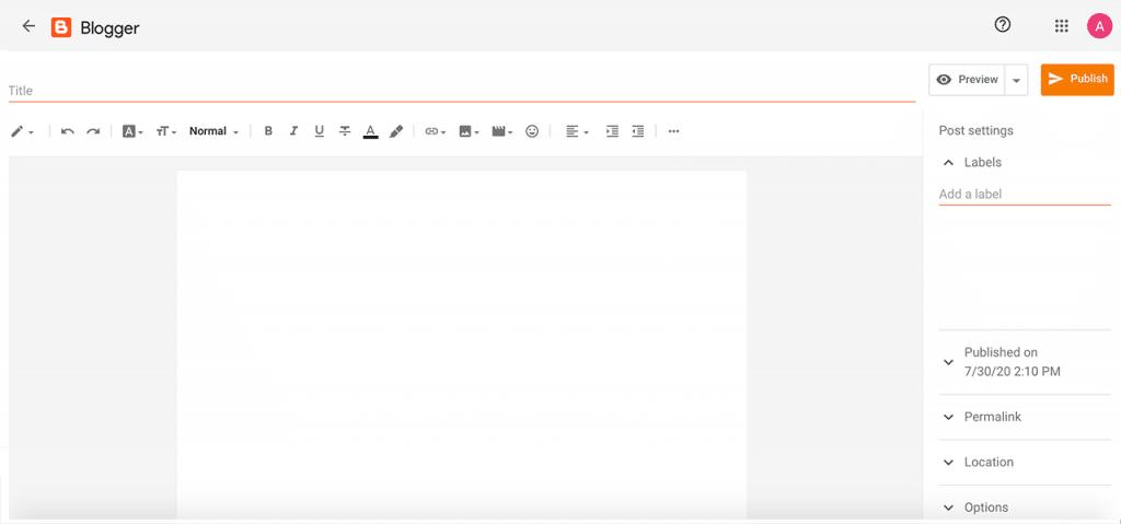 Como criar um blog no Blogger – Criando um novo post